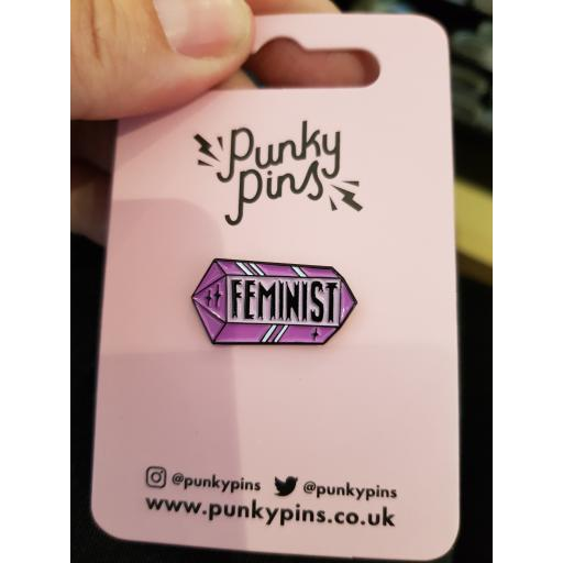 Punky pins - feminist crystal pin