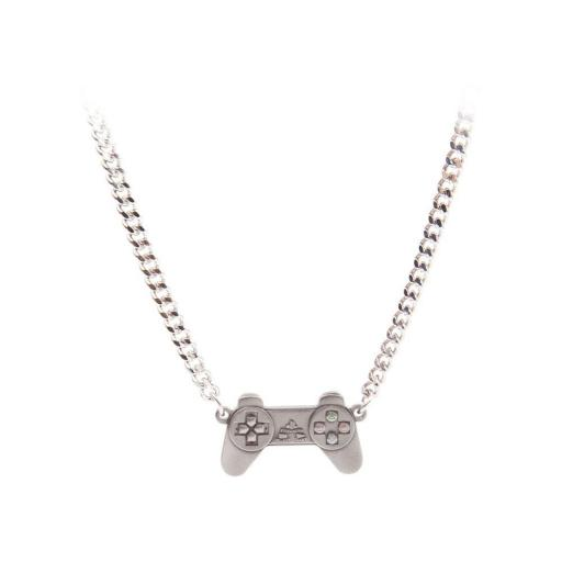 SONY Playstation Controller Necklace, One Size, Silver/Metal