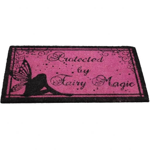 Protected by Fairy Magic Doormat