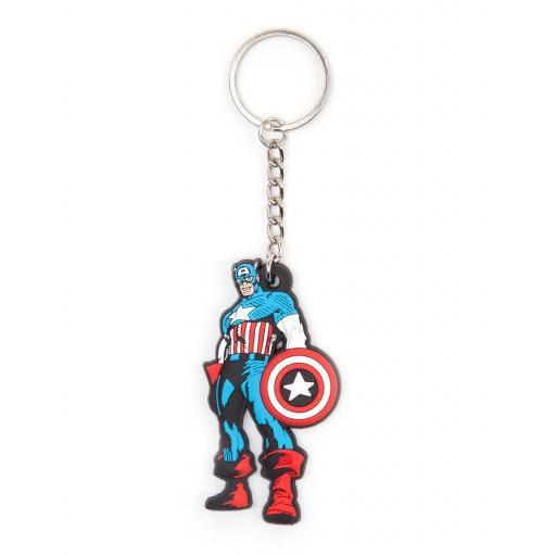 Marvel - Comic Captain America Keyring