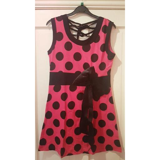 Vixxsin Pink Spotty Dress