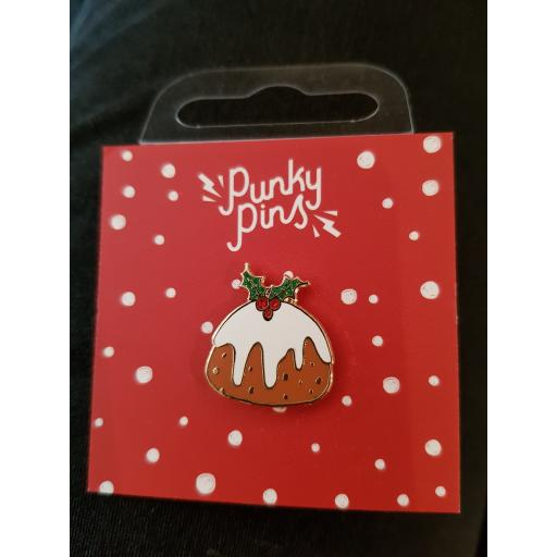Punky pins - Christmas pud