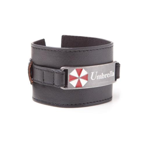 Resident Evil Umbrella Corporation Logo Metal Plate Wristband