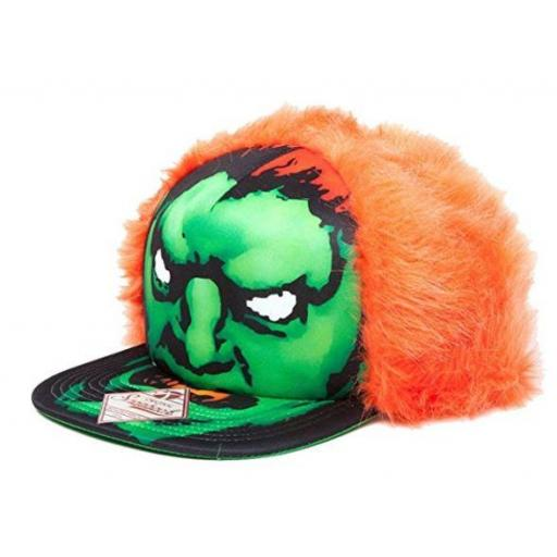 Street Fighter Blanka Character Face with Orange Hair Snapback Cap - Official Merchandise