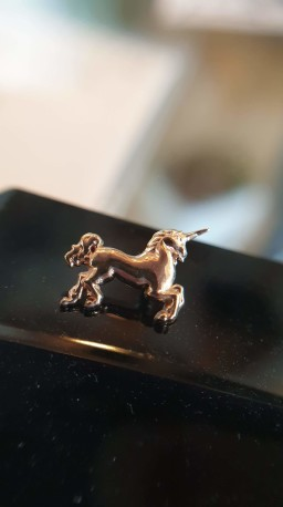 14ct Yellow Gold Body Gems Unicorn