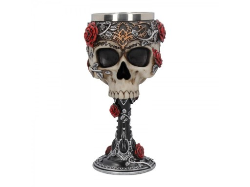 Gothic Rose and skull chalice