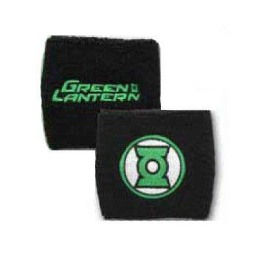 Green Lantern text and logo Terry cloth wristband