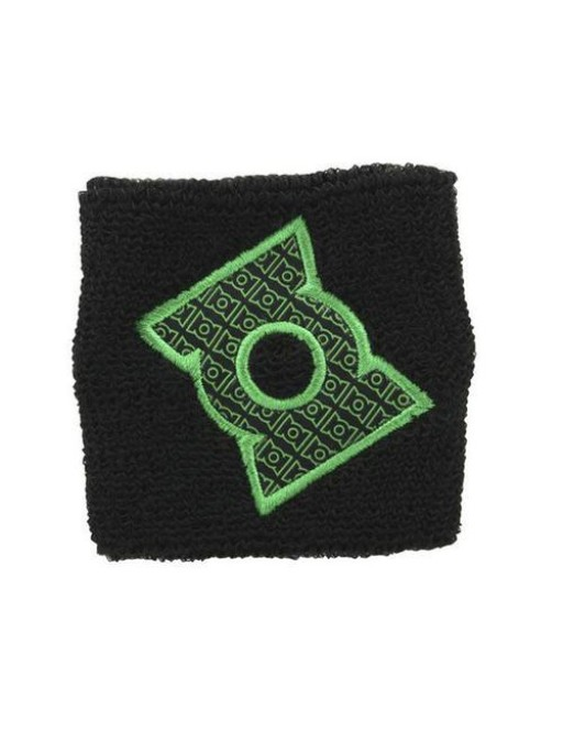 Green Lantern logo Terry cloth wristband